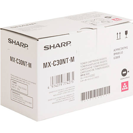 Sharp MX-C30NT-M - Magenta - original - toner cartridge - for Sharp MX-C250, MX-C300W, MX-C301W