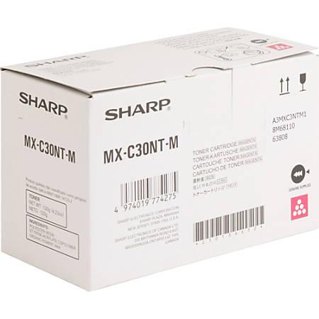 Sharp MX-C30NT-M - Magenta - original - toner cartridge - for Sharp MX-C250, MX-C300W, MX-C301W