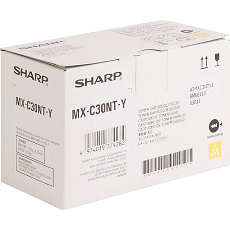 Sharp Toner Cartridge - Yellow - Laser - Standard Yield - 6000 Pages - 1 Each