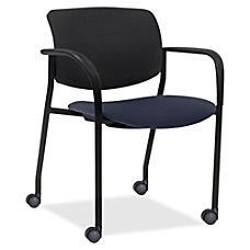 Lorell Mobile Contemporary PlasticFabric Stacking Chair