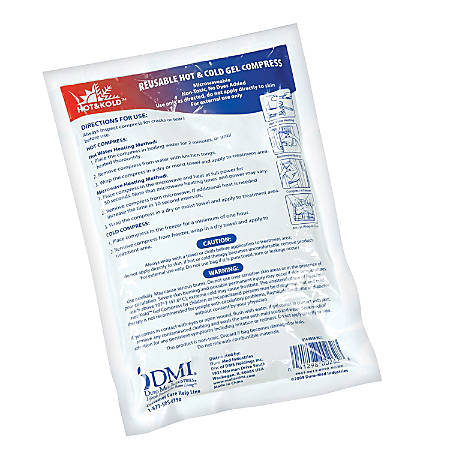 DMI® Hot And Kold Reusable Gel Compresses, Large, White, Pack Of 12