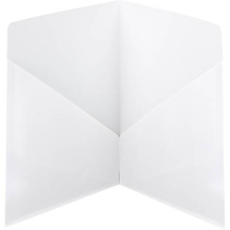 Smead® Classic 2-Pocket Folders, White, Box Of 25 Folders