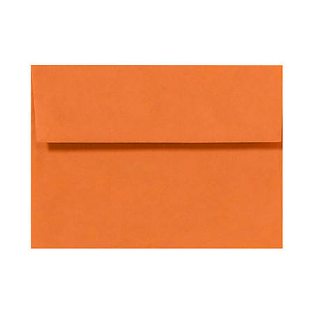 "LUX Invitation Envelopes With Peel & Press Closure, A1, 3 5/8"" x 5 1/8"", Mandarin Orange, Pack Of 250"