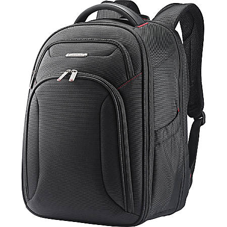 "Samsonite Xenon Carrying Case (Backpack) for 15.6"" Notebook - Black - Shock Resistant - 1680D Ballistic Nylon, Tricot Interior - Handle, Shoulder Strap - 17.5"" Height x 12"" Width x 8"" Depth"