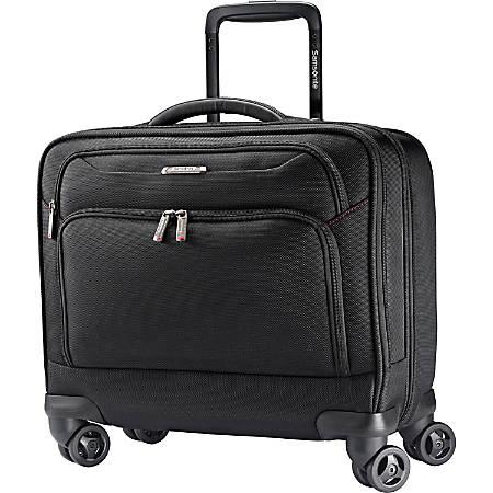 "Samsonite Xenon Carrying Case (Suitcase) for 15.6"" Notebook - Black - Damage Resistant Interior, Shock Resistant Interior - 1680D Ballistic Polyester - Gunmetal Logo - Handle - 16"" Height x 17.5"" Width x 8.7"" Depth"