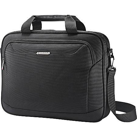 "Samsonite Xenon Carrying Case for 15.6"" Notebook - Black - Drop Resistant Interior, Shock Resistant Interior - 1680D Ballistic Nylon, Tricot Interior - 12.8"" Height x 16.3"" Width x 2"" Depth"