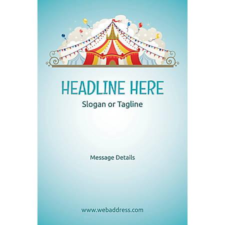 Adhesive Sign, Circus Tent, Vertical