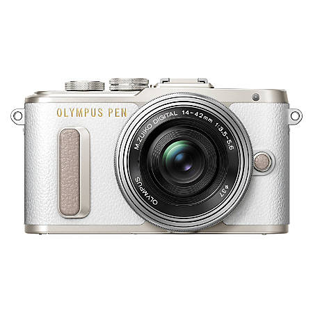 Olympus PEN E-PL8 16.1 Megapixel Mirrorless Camera with Lens - 14 mm - 42 mm - White