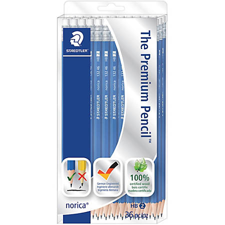 Staedtler Norica Wooden Pencils, #2 Lead, Pack Of 36 Pencils