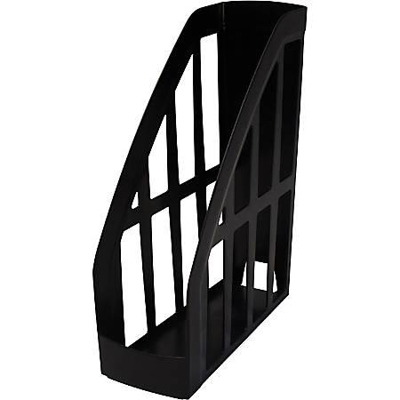 Storex Value Line Recycled Magazine File - Black - Plastic - 1 Each