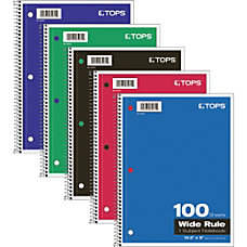 TOPS 1 Subject Spiral Notebook Wide
