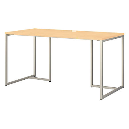 "kathy ireland® Office by Bush Business Furniture Method Table Desk, 60""W, Natural Maple, Premium Installation"