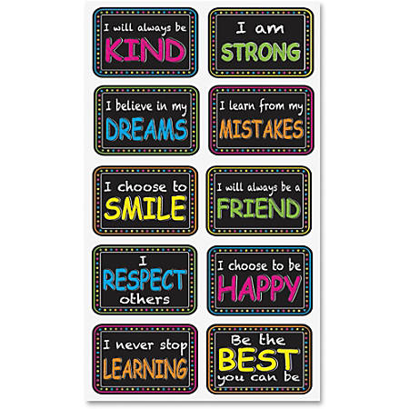 "Ashley Motivation Phrase Mini Whitebrd Eraser - 2"" Width x 1.25"" Length - Lightweight, Comfortable Grip - Multicolor - 10 / Pack"