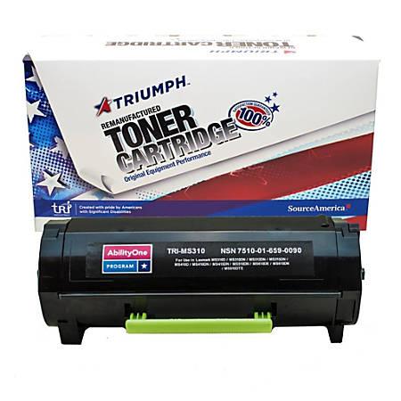 (Lexmark™ 50F0HA0/50F1H00/50F1H0E) High-Yield Remanufactured Black Toner Cartridge (AbilityOne 7510-01-659-0090)