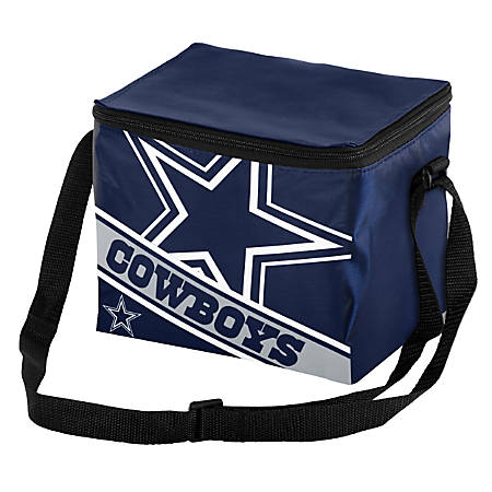 "FOCO Big Logo Stripe 6-Pack Cooler, 7 5/8""H x 1 1/4""W x 8 3/4""D, Dallas Cowboys"