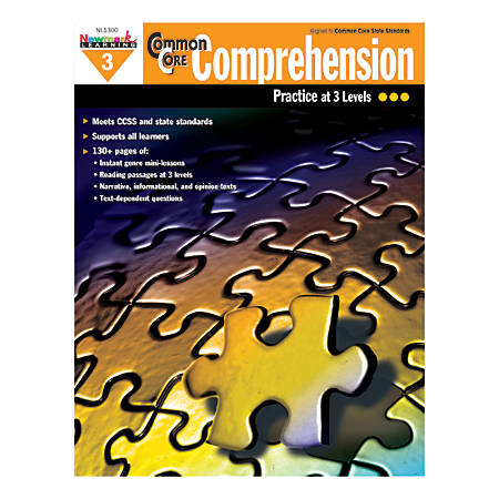 Newmark Learning Common Core Comprehension Workbook, Grade 3