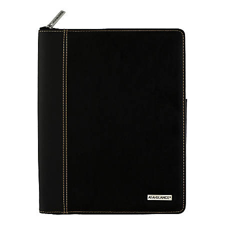 """AT-A-GLANCE® Executive Weekly/Monthly Appointment Book With Zipper, 8-1/4"""" x 11"""", Black, January to December 2020"""