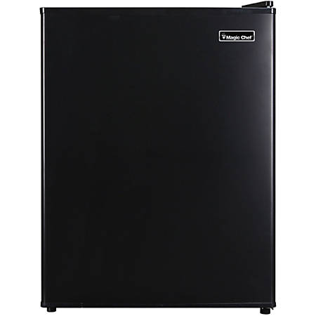 Magic Chef MCAR240B2 Refrigerator - 2.40 ft³ - Auto-defrost - Reversible - 2.40 ft³ Net Refrigerator Capacity - 300 kWh per Year - Black - Wire Shelf