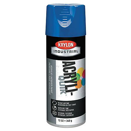 Krylon® Interior/Exterior Industrial Maintenance Paint, 12 Oz Aerosol Can, True Blue