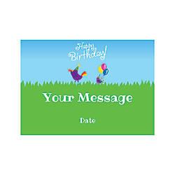 Flat Photo Greeting Card Birthday Birds