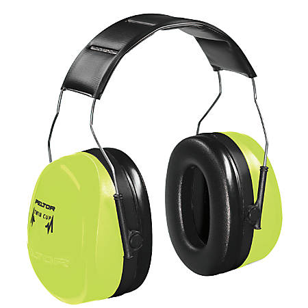 Optime 105 Earmuffs, 30 dB NRR, Hi-Viz Green, Over the Head