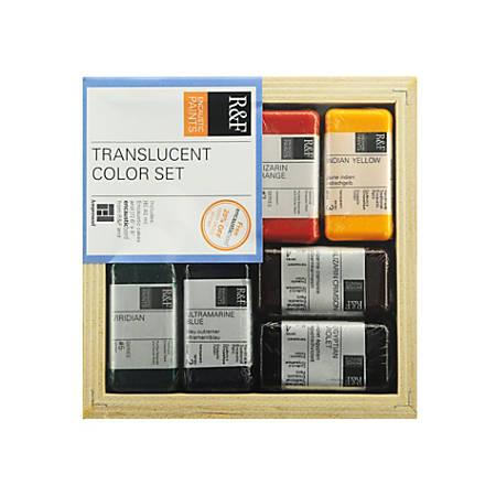 R & F Handmade Paints Encaustic Set, Translucent Paint, Assorted Colors