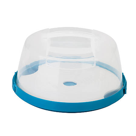 """Honey-Can-Do Round Cake Carrier, 6 5/16"""" x 11 7/16"""", Blue/Clear"""