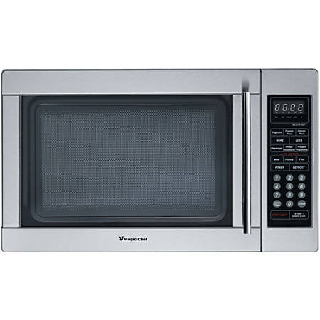 Magic Chef® 1.3 Cu Ft Countertop Microwave, Stainless Steel