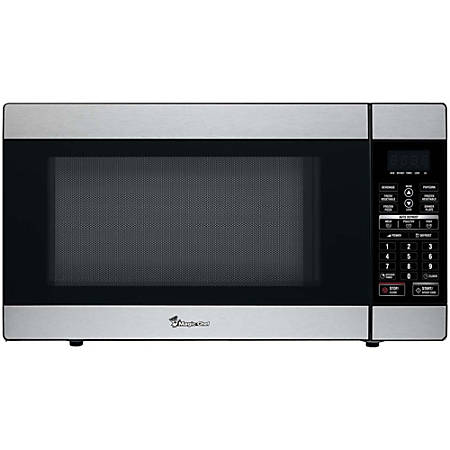 Magic Chef MCD1811ST Microwave Oven - Single - 13.46 gal Capacity - Microwave - 10 Power Levels - 1000 W Microwave Power - Countertop - Stainless Steel