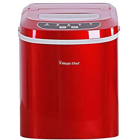 Magic Chef® 27 Lb Portable Countertop Ice Maker, Red