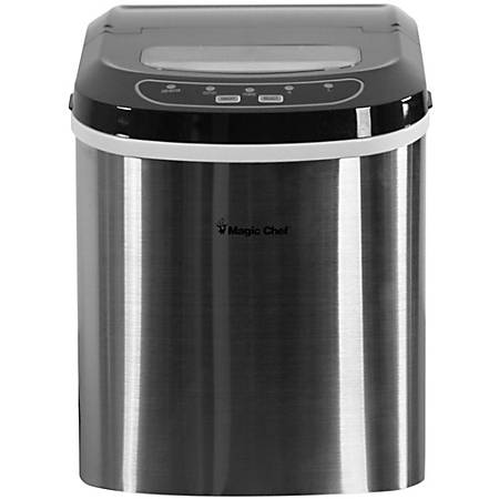 Magic Chef® 27 Lb Portable Countertop Ice Maker, Stainless Steel