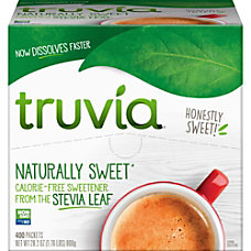Truvia Sweetener Packets Natural Sweetener 400Carton