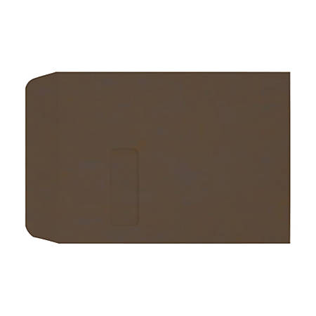 "LUX Open-End Window Envelopes With Peel & Press Closure, #9 1/2, 9"" x 12"", Chocolate, Pack Of 250"