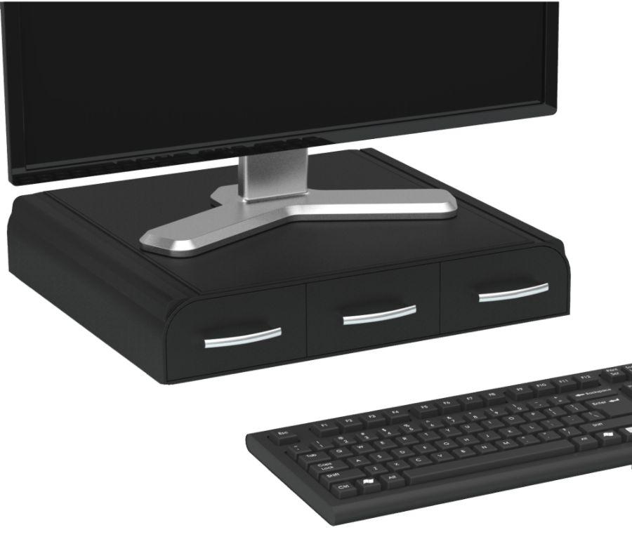 Mind Reader Perch Monitor Stand And Desk Organizer 2 34 H X 13 12 W
