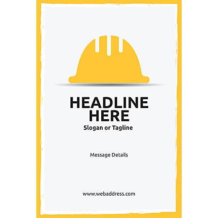 Custom Poster, Hardhat, Vertical