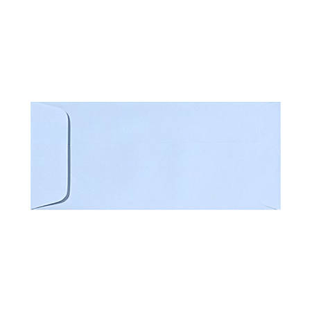 """LUX Open-End Envelopes With Peel & Press Closure, #10, 4 1/8"""" x 9 1/2"""", Baby Blue, Pack Of 250"""