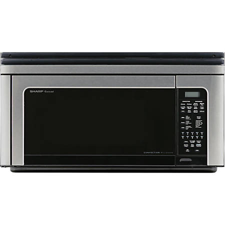 "Sharp Carousel R-1881LSY Convection Microwave Oven - Single - 8.23 gal Capacity - Convection, Microwave, Baking, Roasting, Broiling - 11 Power Levels - 850 W Microwave Power - 13"" Turntable - 120 V AC - Over The Range - Stainless Steel"