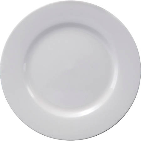 "Office Settings Chef's Table Fine Dinnerware - 6"" Length 6"" Width 6"" Diameter Appetizer Plate - Porcelain - Dishwasher Safe - Microwave Safe - White - 8 Piece(s) / Box"