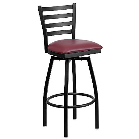 Flash Furniture Swivel Bar Stool, Burgundy