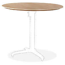 Lorell Foldable Hospitality Table Maple Tabletop