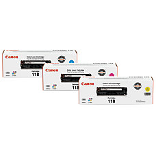 Canon 118 CyanMagentaYellow Toner Ink Cartridges