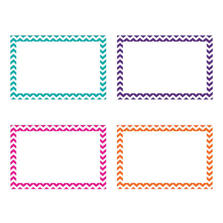 """Top Notch Teacher Products® Chevron Border Index Cards, 4"""" x 6"""", Assorted Colors, 75 Cards Per Pack, Case Of 6 Packs"""