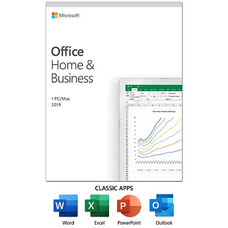 Office Home And Business 2019, For 1 PC/Mac