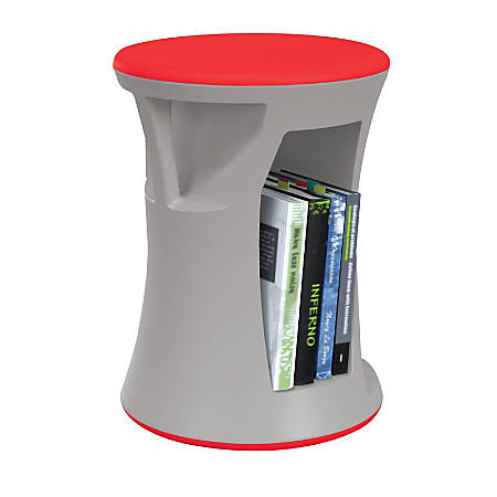 MooreCo Hiearchy Flipz Stacking Rocking Stool, Gray/Red