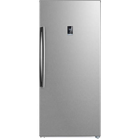 Midea Upright Stainless-Steel Freezer, 21.0 Cu Ft, Energy Star®, Stainless Steel