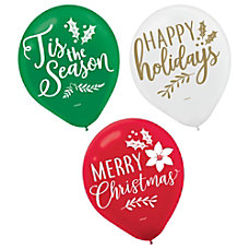 Amscan Traditional Christmas Balloons 12 15