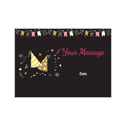 Flat Photo Greeting Card Birthday Caps