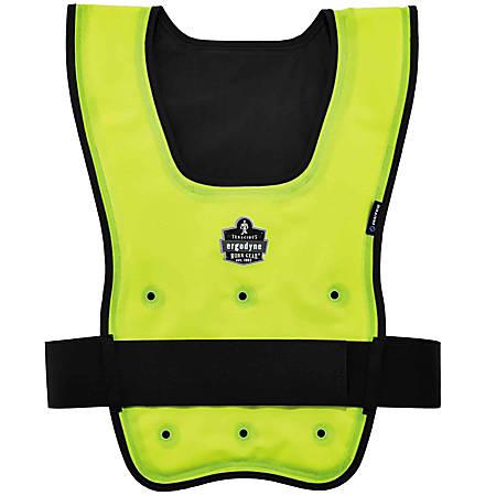 Ergodyne Chill-Its Evaporative Cooling Vest, Economy, Large/X-Large, Lime, 6667