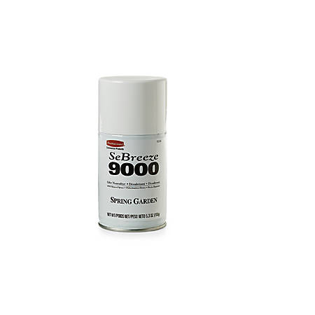 Rubbermaid® SeBreeze® 9000 Odor Neutralizer Aerosol Canisters, Spring Garden Scent, 48 Oz, Pack Of 4 Canisters