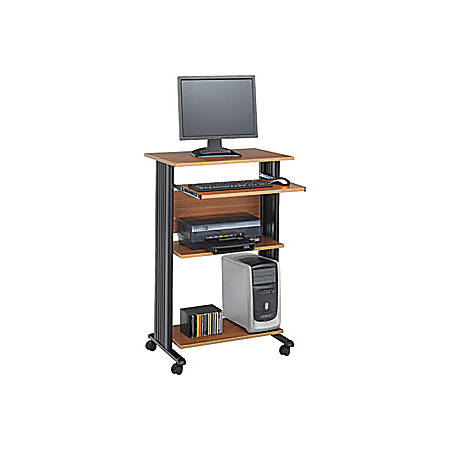 Safco® Muv Fixed Height Stand-Up Workstation, Medium Oak